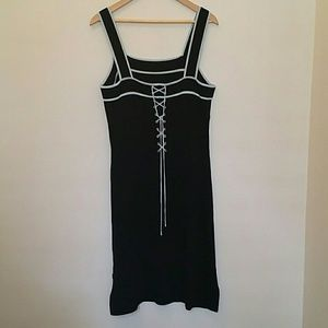 BCBG Max Azria Black Dress with Light Blue Accent
